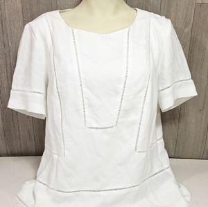 Banana Republic White Short Sleeve Blouse